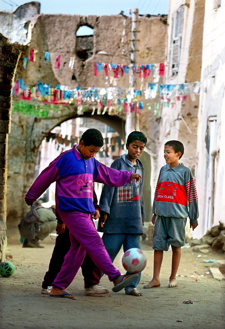 Egyptian-Soccer-in-alley